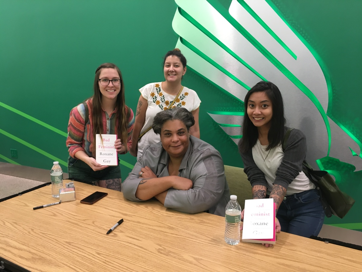 meeting author Roxane Gay with my best gal pals